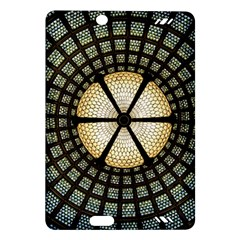 Stained Glass Colorful Glass Amazon Kindle Fire Hd (2013) Hardshell Case by Onesevenart