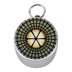 Stained Glass Colorful Glass Mini Silver Compasses by Onesevenart