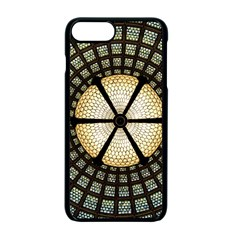 Stained Glass Colorful Glass Apple Iphone 7 Plus Seamless Case (black) by Onesevenart