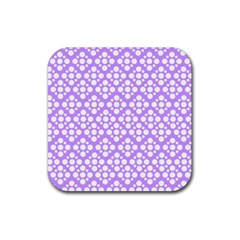 The Background Background Design Rubber Square Coaster (4 Pack)  by Onesevenart