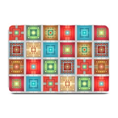 Tiles Pattern Background Colorful Plate Mats by Onesevenart
