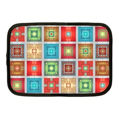 Tiles Pattern Background Colorful Netbook Case (medium)  by Onesevenart