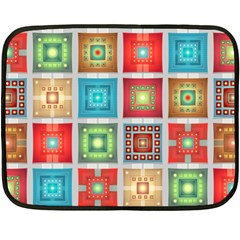 Tiles Pattern Background Colorful Fleece Blanket (mini) by Onesevenart