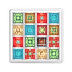 Tiles Pattern Background Colorful Memory Card Reader (square)  by Onesevenart