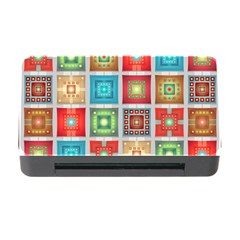 Tiles Pattern Background Colorful Memory Card Reader With Cf by Onesevenart