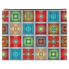Tiles Pattern Background Colorful Cosmetic Bag (xxxl)  by Onesevenart