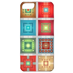 Tiles Pattern Background Colorful Apple Iphone 5 Classic Hardshell Case by Onesevenart