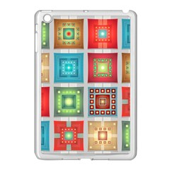 Tiles Pattern Background Colorful Apple Ipad Mini Case (white) by Onesevenart