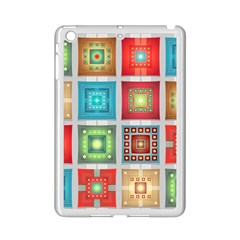 Tiles Pattern Background Colorful Ipad Mini 2 Enamel Coated Cases by Onesevenart