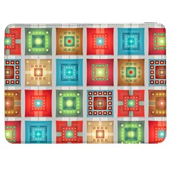 Tiles Pattern Background Colorful Samsung Galaxy Tab 7  P1000 Flip Case by Onesevenart