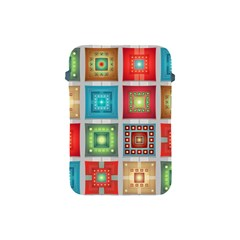 Tiles Pattern Background Colorful Apple Ipad Mini Protective Soft Cases by Onesevenart
