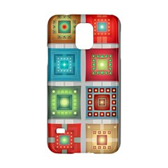 Tiles Pattern Background Colorful Samsung Galaxy S5 Hardshell Case  by Onesevenart