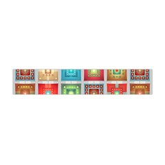 Tiles Pattern Background Colorful Flano Scarf (mini) by Onesevenart