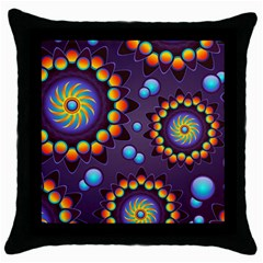 Texture Background Flower Pattern Throw Pillow Case (black) by Onesevenart