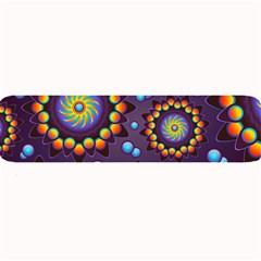 Texture Background Flower Pattern Large Bar Mats by Onesevenart