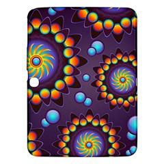 Texture Background Flower Pattern Samsung Galaxy Tab 3 (10 1 ) P5200 Hardshell Case  by Onesevenart