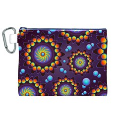Texture Background Flower Pattern Canvas Cosmetic Bag (xl) by Onesevenart