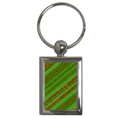 Stripes Course Texture Background Key Chains (rectangle)  by Onesevenart