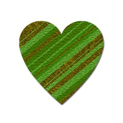 Stripes Course Texture Background Heart Magnet by Onesevenart