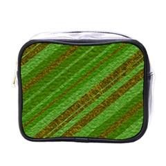 Stripes Course Texture Background Mini Toiletries Bags by Onesevenart