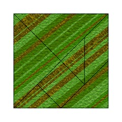 Stripes Course Texture Background Acrylic Tangram Puzzle (6  X 6 ) by Onesevenart