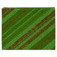 Stripes Course Texture Background Cosmetic Bag (xxxl)  by Onesevenart