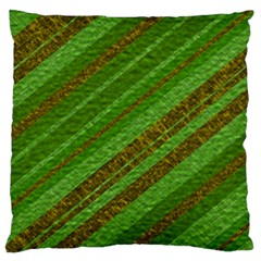 Stripes Course Texture Background Large Flano Cushion Case (two Sides) by Onesevenart