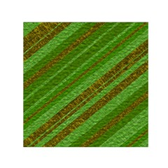 Stripes Course Texture Background Small Satin Scarf (square) by Onesevenart