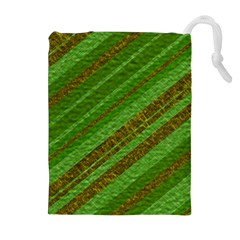 Stripes Course Texture Background Drawstring Pouches (extra Large) by Onesevenart