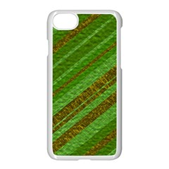 Stripes Course Texture Background Apple Iphone 7 Seamless Case (white) by Onesevenart