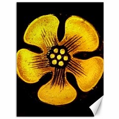 Yellow Flower Stained Glass Colorful Glass Canvas 36  X 48   by Onesevenart