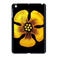 Yellow Flower Stained Glass Colorful Glass Apple Ipad Mini Case (black) by Onesevenart
