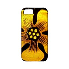 Yellow Flower Stained Glass Colorful Glass Apple Iphone 5 Classic Hardshell Case (pc+silicone) by Onesevenart