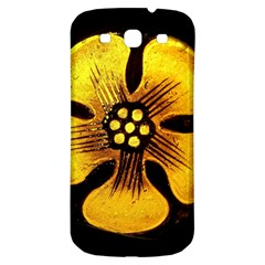 Yellow Flower Stained Glass Colorful Glass Samsung Galaxy S3 S Iii Classic Hardshell Back Case by Onesevenart