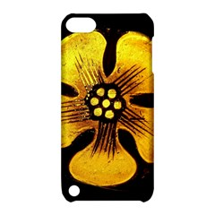 Yellow Flower Stained Glass Colorful Glass Apple Ipod Touch 5 Hardshell Case With Stand by Onesevenart