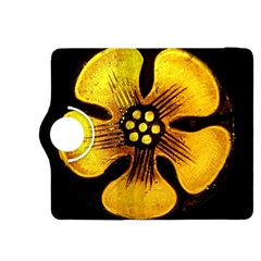 Yellow Flower Stained Glass Colorful Glass Kindle Fire Hdx 8 9  Flip 360 Case by Onesevenart