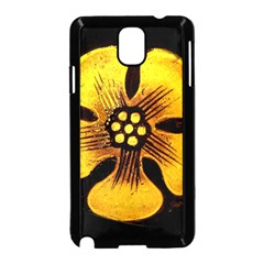 Yellow Flower Stained Glass Colorful Glass Samsung Galaxy Note 3 Neo Hardshell Case (black) by Onesevenart