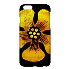 Yellow Flower Stained Glass Colorful Glass Apple Iphone 6 Plus/6s Plus Hardshell Case by Onesevenart