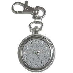Water Glass Pattern Drops Wet Key Chain Watches by Onesevenart