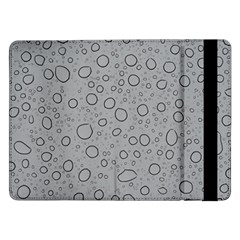 Water Glass Pattern Drops Wet Samsung Galaxy Tab Pro 12 2  Flip Case by Onesevenart