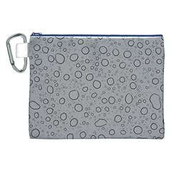 Water Glass Pattern Drops Wet Canvas Cosmetic Bag (xxl) by Onesevenart