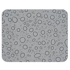 Water Glass Pattern Drops Wet Double Sided Flano Blanket (medium)  by Onesevenart