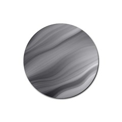 Wave Form Texture Background Rubber Round Coaster (4 Pack)  by Onesevenart