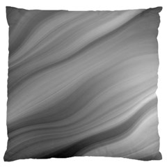 Wave Form Texture Background Large Flano Cushion Case (one Side) by Onesevenart