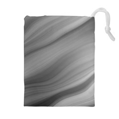 Wave Form Texture Background Drawstring Pouches (extra Large) by Onesevenart