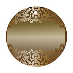 Floral Decoration Ornament (round) by Onesevenart