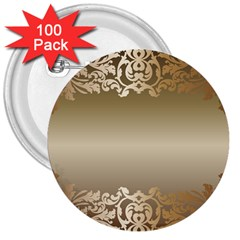 Floral Decoration 3  Buttons (100 Pack)  by Onesevenart