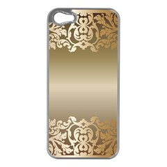 Floral Decoration Apple Iphone 5 Case (silver) by Onesevenart