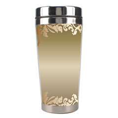Floral Decoration Stainless Steel Travel Tumblers by Onesevenart