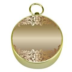 Floral Decoration Gold Compasses by Onesevenart